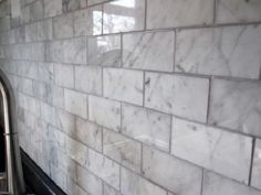 A Warmer (less Gray) Marble For Around Fireplace. Pretty! This Is 3x6  Calacatta Gold With Straight Edge By Mosaic Tile Stone. Find A Quite Whiteu2026