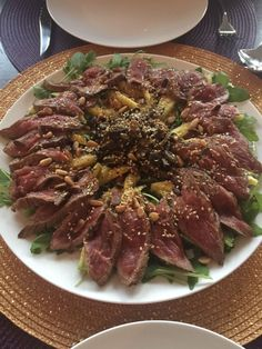 [Homemade] Tataki of beef and minced shiitake #food #foodporn #recipe #cooking #recipes #foodie #healthy #cook #health #yummy #delicious