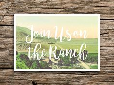 On the Ranch Save the Date Postcard // Farm Wedding by factorymade