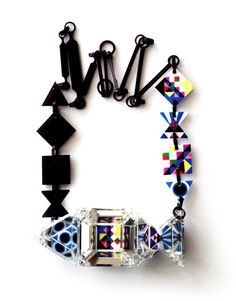Bunvara Wannapin Necklace: Illusionary Pop 2011 Mirrored acrylic sheet, plastic film
