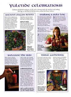 The Witch Is In Posting some helpful Book of Shadows pages!You can find Shadows and more on our website.The Witch Is In Posting some helpful Book of Shadows p. Yule Traditions, Winter Solstice Traditions, Yule Celebration, Pagan Yule, Wicca Witchcraft, Green Witchcraft, Yule Log, Under The Mistletoe, Sabbats
