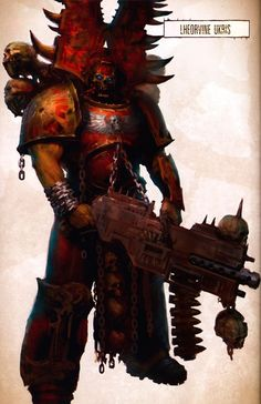 Lheorvine Ukris artwork from the first edition copy of Aaron Dembski-Bowden's The Talon of Horus.