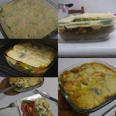 Almoço dessa quinta: lasanha de abobrinha  #nofilter #semfiltro #lasanha #instafood #pornfood #instapoa #instaigers #receitas #abobrinha #quinta-feira #queijo #cheese #saudável #saudávelegostoso