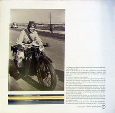 champion of moto sport Lydia Sviridova at the wheel of a motorcycle L-300, 1937 (a book by Andrey Myatiyev - History of the Soviet Motorcycle 1924-1945)