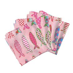 Amarela Dinner Napkins featuring Strawberry Fish by orangefancy | Roostery Home Decor