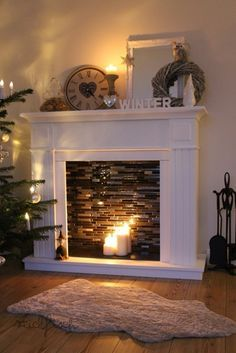 How to build a simple do it yourself corner fireplace corner diy faux fireplace with candles makes room warmer and cozy perfect decoration for christmas time it is super easy to make you must try solutioingenieria Image collections
