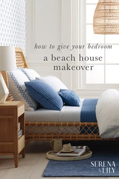 The finest materials for a coastal inspired bedroom.