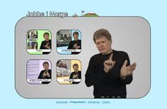 Jobbe i Norge >> Jobbe i Norge er et tegnspråklig læremiddel til undervisning og samtale med voksne døve innvandrere. Det er mye man må forholde seg til av lover, regler og normer i det norske arbeidslivet.