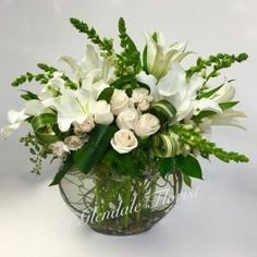 White Snapdragon, Lillie, and Rose