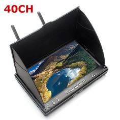 89.00$  Buy now - http://alibel.worldwells.pw/go.php?t=32789354686 - Hot Sale Eachine LCD5802S 5802 40CH Raceband 5.8G 7 Inch Diversity Receiver Monitor with Build-in Battery For FPV Multicopter 89.00$