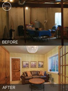 finished basement before and after. Brian  Danica S Basement Before After Pictures Basements Men Cave And Finished Basements