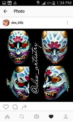 My girl desarae arellano face paint on herself...