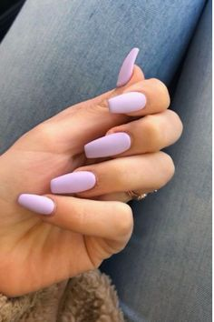 The Biggest Nail Trends You Can Expect To See This Spring 2020 - - - Nail trends will have you re-thinking how you do your nails this Spring! You have to try out these new nail trends just in time for Spring. Purple Acrylic Nails, Summer Acrylic Nails, Purple Nails, Spring Nails, Summer Nails, Matte Nails, Autumn Nails, Winter Nails, Violet Nails