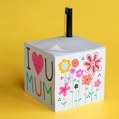 Inspiration | BLANK supplies & inspiration  Note cube is an easy to make Mother's Day gift!