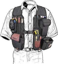 With real made in the USA quality the Occidental tool vest carries your tools without strain, even integrates with your tool belt. Get it at Duluth Trading! Woodworking Vest, Woodworking Supplies, Woodworking Classes, Woodworking Ideas, Tool Pouch, Tool Belt, Occidental Leather, Carpentry Tools, Duluth Trading
