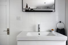 minimal white bathroom // Allspice Design