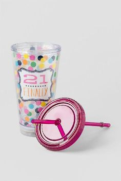 21 Finally Light Up Travel Cup $16.00