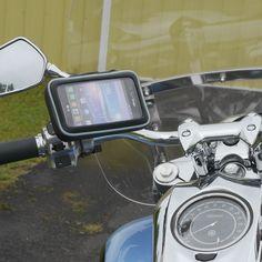 eCaddy® URBAN Hydra Waterproof Motorcycle GPS & Phone Mount for Mirror…