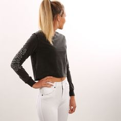 Thrilling New Arrivals || Outline Thrills Long Sleeve Tee Acid Pair with a high waisted jean for a killer look  http://ift.tt/1qWMEWq by jeanjail