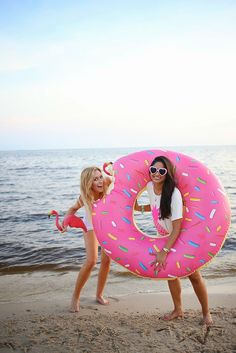 pink sprinkle donut floatie is a MUST for summer