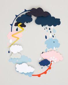 clouds, felt, carl kleiner, weather, papers, water cycle, paper crafts, rain, kid