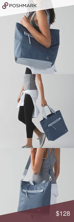 cb17c90b Shop Women's lululemon athletica Blue size OS Totes at a discounted price  at Poshmark. Description: Brand: Lululemon Athletica out & about tote  Condition: ...