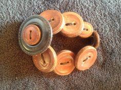 Bracelet boutons en cuir
