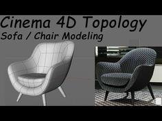 Cinema 4D Modeling Sofa / chair - YouTube