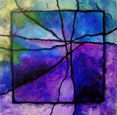 "CAROL NELSON FINE ART BLOG: Gemstone Abstract Art ""Gemstone 4R"" by Colorado Mixed Media Abstract Artist Carol Nelson"