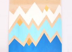 Geometric Mountains DIY Wall Art - Lines Across