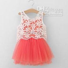 f19e55af7e1 Wholesale Hot Summer Newest Flower Girl s Baby dress Lace girls dress  Children s dresses Kids wear Kids