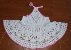 Crochet Dress & Hat for Baby + Diagrams