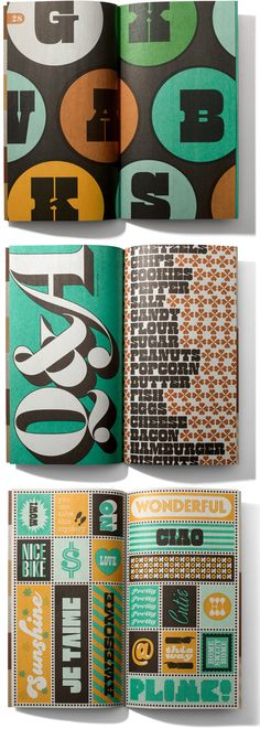 photo-lettering catalog editorial designs