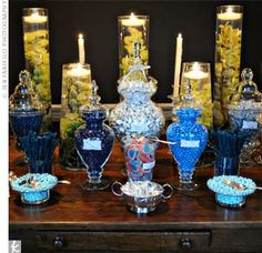 candy buffet for wedding reception | Candy Buffets at Wedding Receptions are So Cool! | Chic Ink