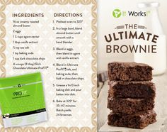 The ultimate brownie using It Works! Ultimate Profit shake mix