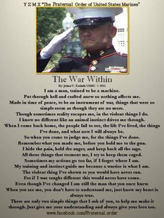 Once you go to war you are never the same again. God bless Military Men and Women, and Semper Fi Marine Quotes, Usmc Quotes, Military Quotes, Military Humor, Military Life, Military Terms, Military Art, Military History, Marine Corps Humor
