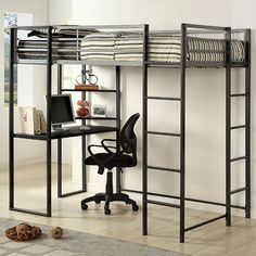 Twin Bed With Workstation Sherman Collection Cm-Bk1098T This bunk bed is a great space saver for smaller rooms. Bunk Bed Sale For $345