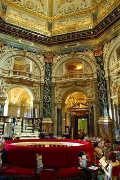 Viennese coffee shop,,,,imagine being able to have cake and hot chocolate in here in Winter, so romantic!