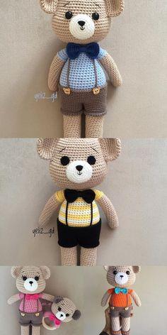 Crochet Teddy Bear Pattern, Giraffe Crochet, Plush Pattern, Crochet Animal Patterns, Stuffed Animal Patterns, Amigurumi Patterns, Free Pattern, Crochet Doll Tutorial, Crochet Dolls