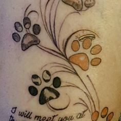 My new dog paw print tattoo