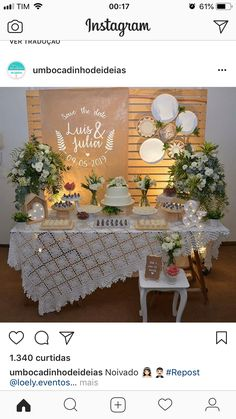 Toalha e bastidores Party Decoration, Bridal Shower Decorations, Birthday Decorations, Wedding Decorations, Table Decorations, Showers Of Blessing, Wedding Desserts, Diy Arts And Crafts, Baby Shower Parties
