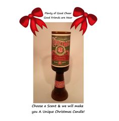 Get in the Christmas Spirit with iur Christmas Ale Beer Bottle Candle choose your scent & we will make you a Unique Candle, $12.00 #Christmas #gifts #candles