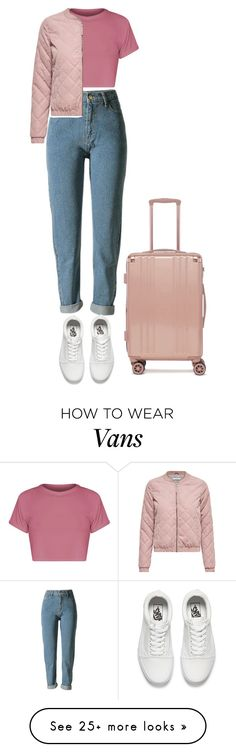 """Без названия #580"" by songjieun on Polyvore featuring WithChic, Vans and CalPak"