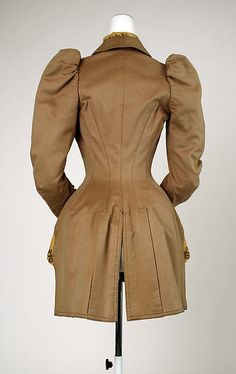Jacket Date: early 1890s Culture: German Medium: wool, silk Accession Number: C.I.55.41.3