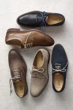 Legendary Quality, Modern Style: Updated J&M classics with a fit and feel that are second to none. Mens Dress Outfits, Men Dress, Dress Shoes, Dress Clothes, Modern Mens Fashion, Mens Boots Fashion, Leather Flip Flops, Leather Shoes, Men's Leather