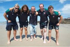 Leicester Tigers players go surfing in Jersey (6)