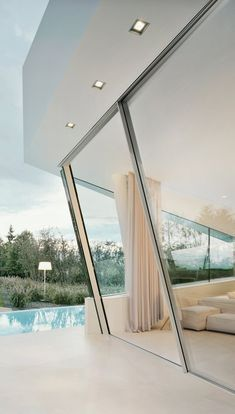 Sky-Frame. Slope (shown), arc or classic. windows