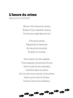 l'heure du crime - Maurice Carême - La Classe de Bertaga