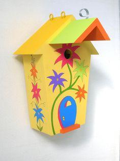 Birdzville birdhouse combines a whimsical Dr Suess by billzbirdz, $89.00