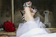 My Wedding Photo of my shoes... one of my favorite pictures. love zebra and i love shoes and of course i loved my wedding!